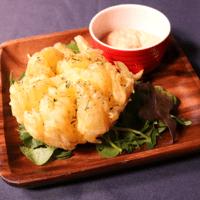 つぶつぶ!明太マヨで食べるフラワーオニオン