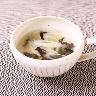 生姜香る ねぎの中華スープ