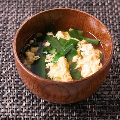 ニラ玉の和風スープ