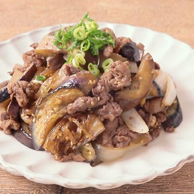 ナスと牛肉のチャプチェ風炒め