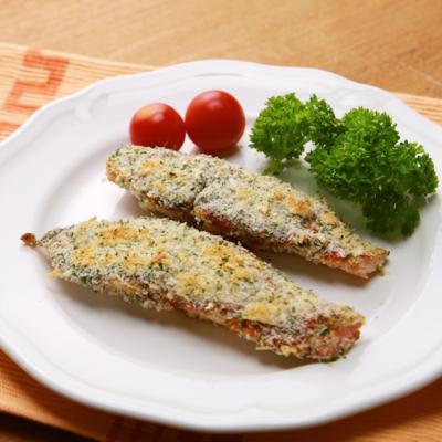 パセリ香る 鮭のパン粉焼き