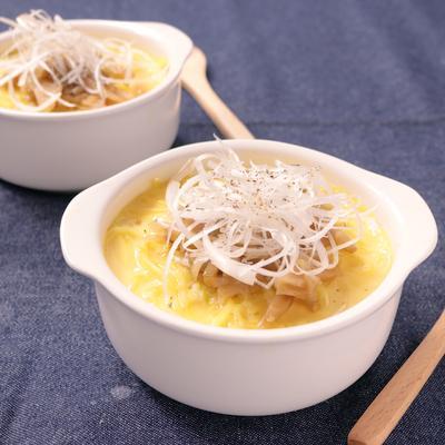 オーブンで 中華麺入り茶碗蒸し