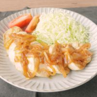 しっとり鶏むね肉の生姜焼き風