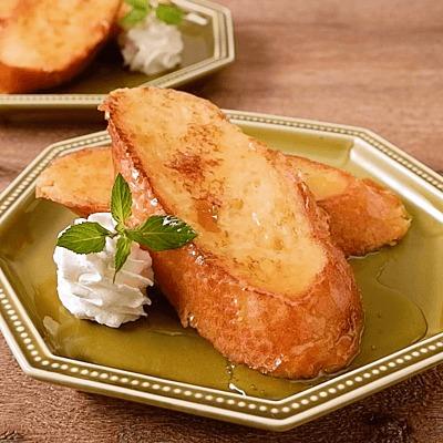 フランスパンのオーツミルクフレンチトースト