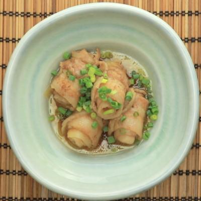 めんつゆで煮込む 豚バラ肉と大根のくるくる巻き