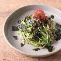 ブロッコリースプラウトと水菜の韓国風ナムル
