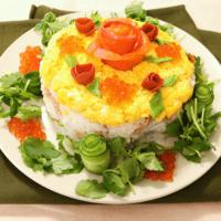 華やか!バラのお寿司ケーキ