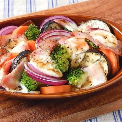 トースターで ごろごろ野菜のグリルサラダ