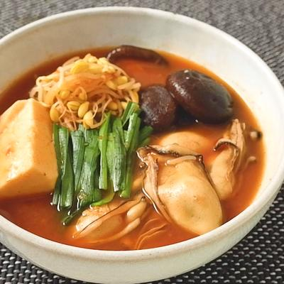 牡蠣の旨味たっぷり テグタンスープ風