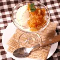 オトナの冬簡単デザート!フレッシュ柿ソースで楽しむバニラアイス