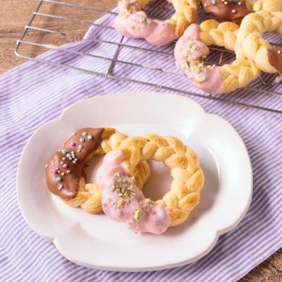 冷凍パイシートで簡単 リースパイクッキー