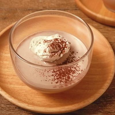 アーモンドミルクでココアパンナコッタ