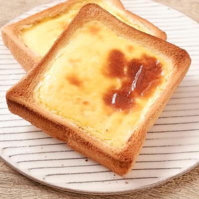 簡単 バスクチーズケーキ風トースト