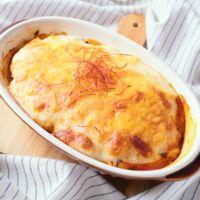 甘辛チキンのふわとろチーズグラタン