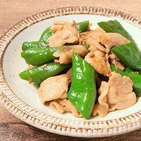 万願寺とうがらしと豚肉の炒め物