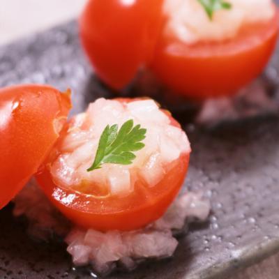 ひと口トマトの簡単おつまみ