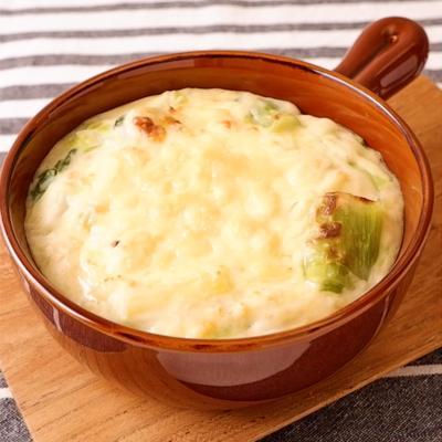 白菜と長ねぎのグラタン