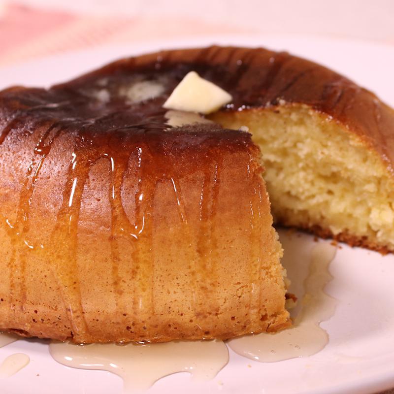 お子様でも簡単!炊飯器で厚焼きパンケーキ