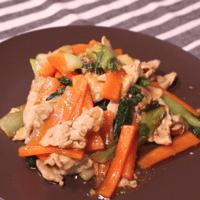 青梗菜と豚しゃぶの中華炒め