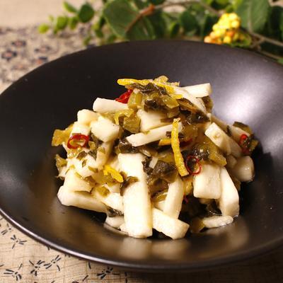 長芋の高菜和えさっぱり柚子サラダ