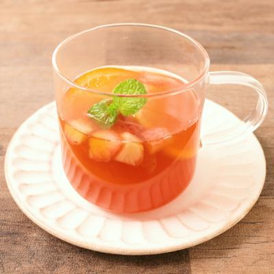 ノンアル 紅茶といちごのホットサングリア