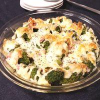 ブロッコリーのベーコンカレーマヨチーズ焼き