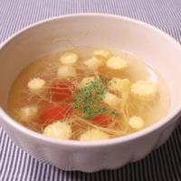 レンジ調理!ヤングコーンとトマトのスープ