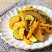彩り野菜のカレー炒め