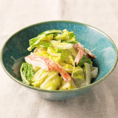 白菜とカニカマのマヨポンサラダ