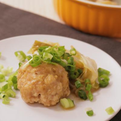 レンジでチン 食材3つ ふわふわ鶏団子のさっぱり白菜蒸し
