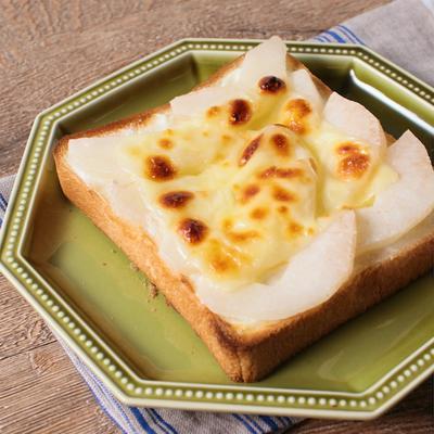 癖になる 梨チーズトースト