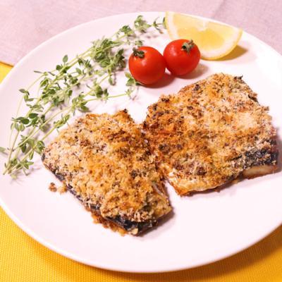 塩サバを使って!簡単香草パン粉焼き