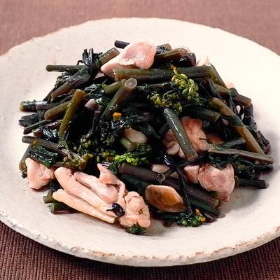 紅菜苔と鶏肉の炒め物
