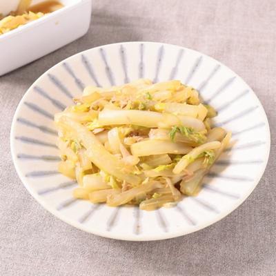 白菜とツナのしょうゆ炒め