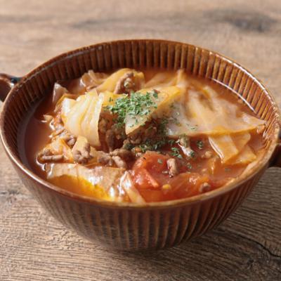 挽肉とトマトの簡単スープ