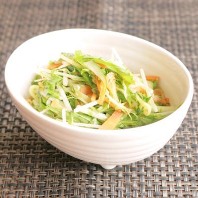 大葉香る水菜のシャキシャキサラダ