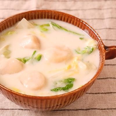 ホタテと白菜のクリームスープ