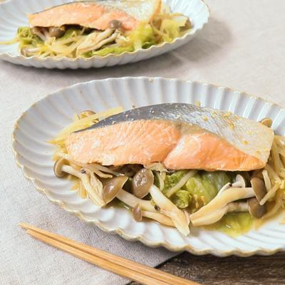 レンジで簡単 鮭のちゃんちゃん焼き風