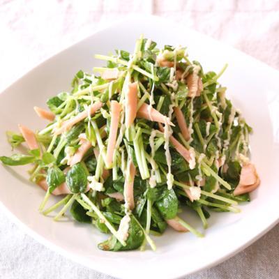 豆苗のごまごまサラダ