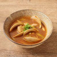 ホンビノス貝のピリ辛スープ