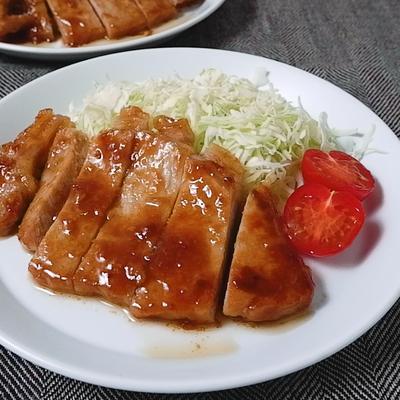 下味冷凍 豚ロースの味噌ガーリック焼き