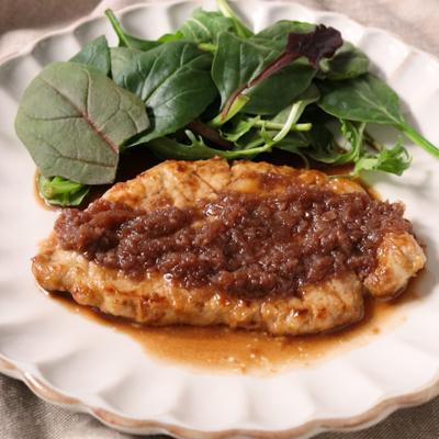 豚肉で 柔らかシャリアピンステーキ