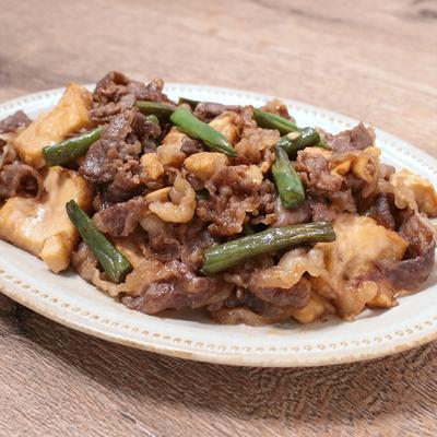 牛肉と厚揚げの炊き合わせ