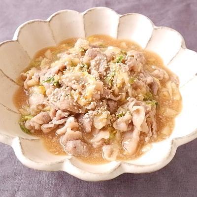 下味冷凍 豚バラ肉と白菜のとろっと煮