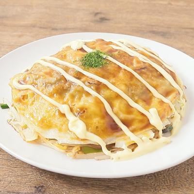 フライパンで作る 広島風お好み焼き