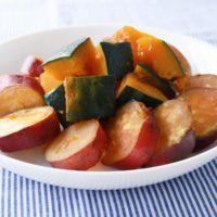 簡単 さつまいもとかぼちゃのレンジ煮