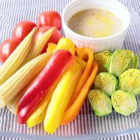 レンジで簡単彩り野菜チーズバーニャカウダ