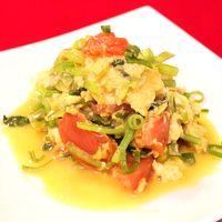 小松菜とトマトの中華風卵炒め