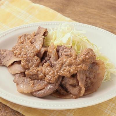 いのしし肉の生姜焼き
