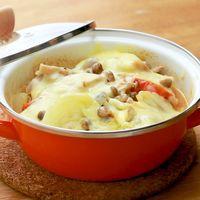 豚バラ肉と野菜の味噌チーズ重ね蒸し